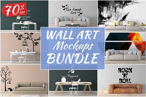 Wall Art Mockups BUNDLE V27