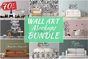 Wall Art Mockups BUNDLE V28