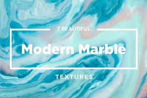 Aqua Modern Marble Ink Textures