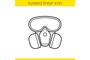 Gas mask icon. Vector