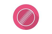 Cricket ball icon. Vector