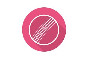Cricket ball icon. Vector