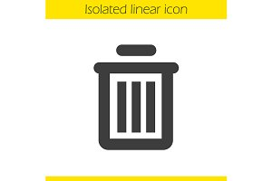 Trash can icon. Vector
