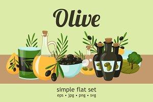 Olive Oil Flat Set