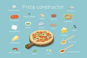 Vector pizza Ingredients