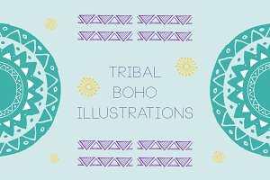 Tribal Boho Illustrations