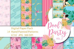 Pool Party Digital Paper