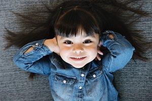 Happy pretty girl portrait