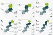 Infographic hexagons