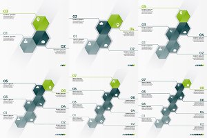 Infographic hexagons