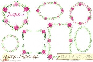 Romantic Watercolor Frames