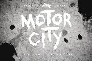 50% OFF! Motor City Font + Extras