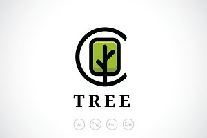 Single Tree Logo Template