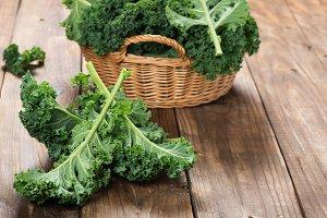 Organic cabbage kale.