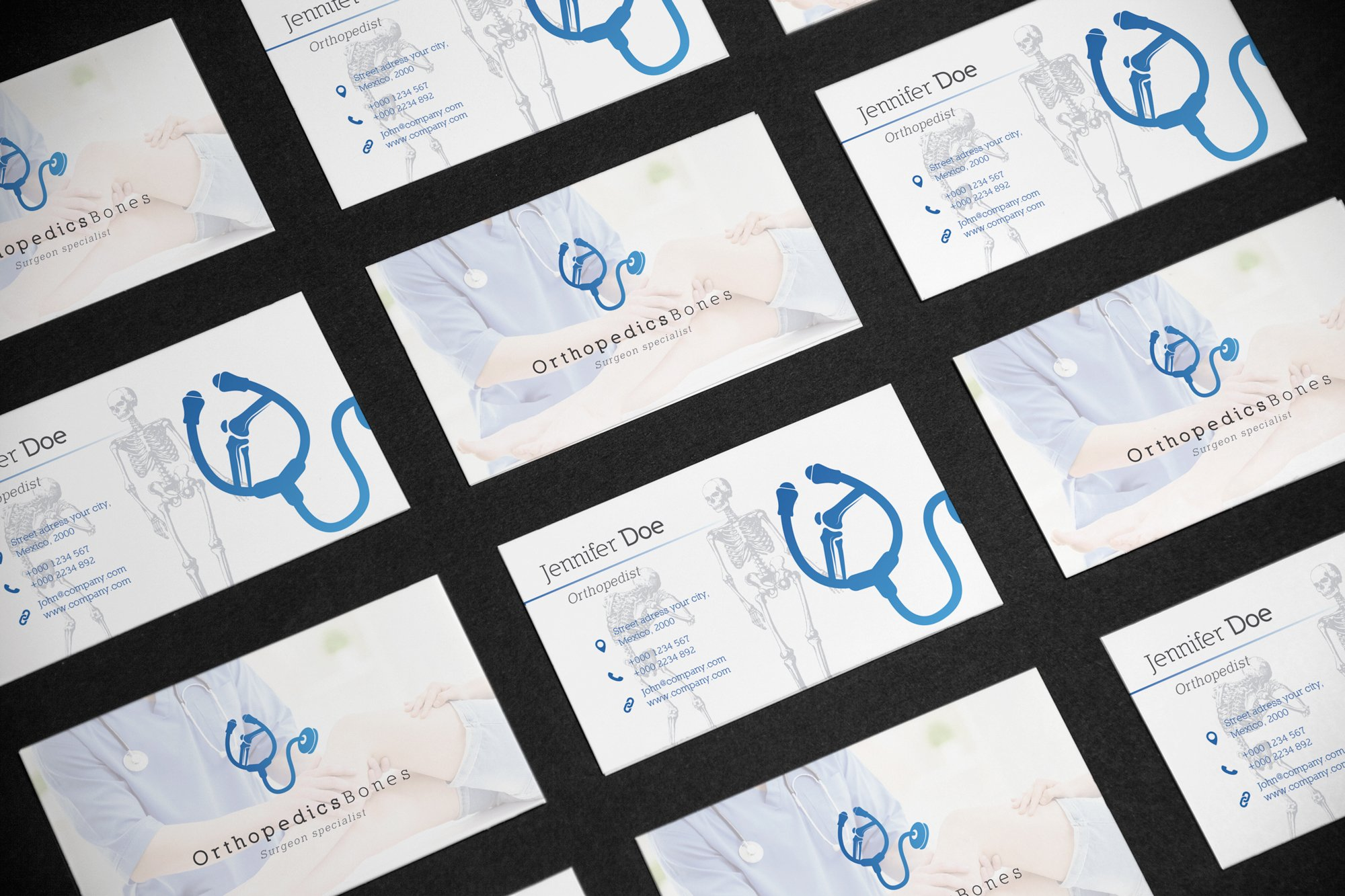 Business Card Medical Orthopedist ~ Business Card Templates ...