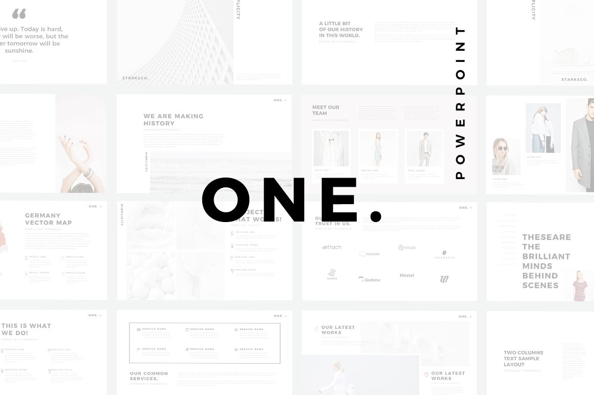 ONE. Minimal PowerPoint Template ~ PowerPoint Templates