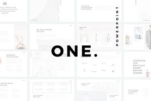 ONE. Minimal PowerPoint Template