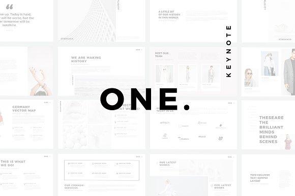ONE. Minimal Keynote Template
