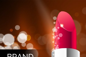 Lipstick cosmetic advertising background