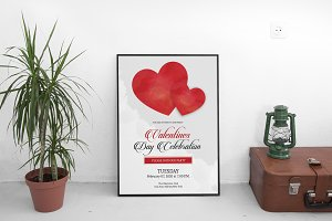 Valentines Party Flyer Template-V474