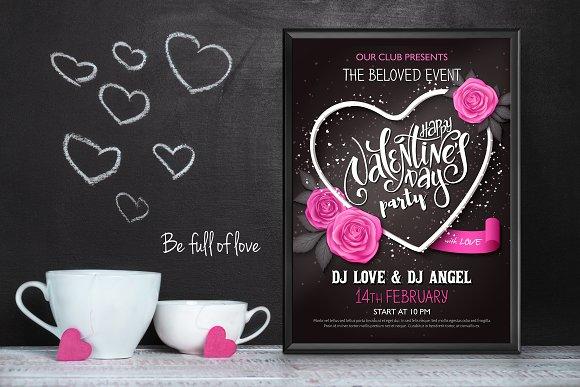 Dark Valentine's Day Poster Template