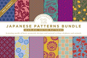 12 JAPANESE PATTERNS BUNDLE