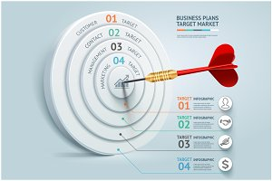 Business Target Marketing Dart Idea