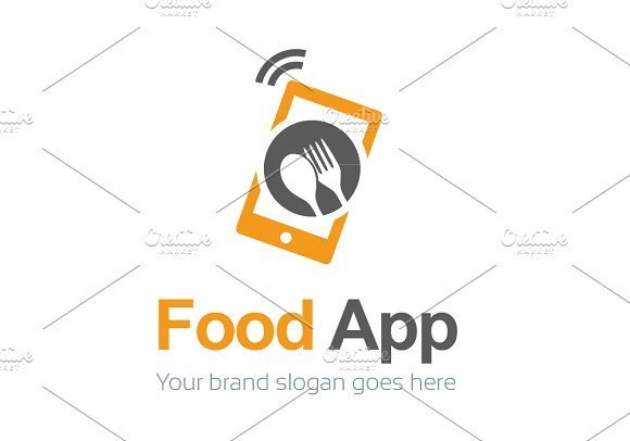 food app logo template logo templates creative market