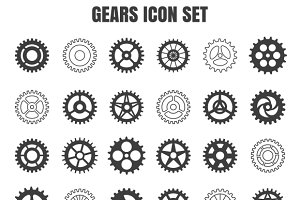 Gear cog wheel icon set