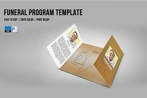 Funeral Program Template-V654