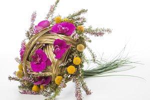 Bridal bouquet lying down