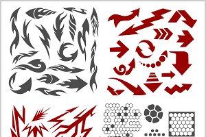 Design elements on white background - vector big set