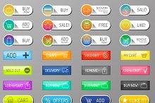 Vectot shopping web icons