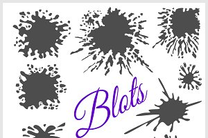 Blots. Vector set.