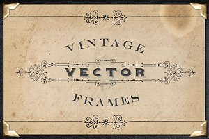 Vintage Titling Vector Frames Set 3