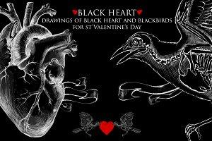 Black Heart- st'Valentine's Drwaings