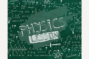 Physics Blackboard Image