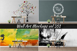 Wall Mockup - Sticker Mockup Vol 351