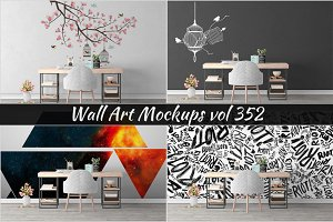 Wall Mockup - Sticker Mockup Vol 352