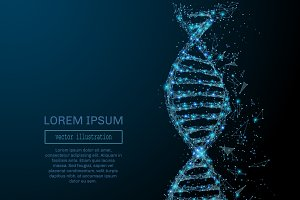 abstract DNA concept