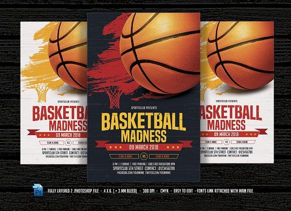Basketball Madness Flyer Templates Creative Market
