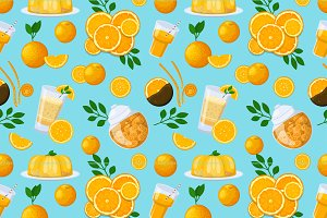 Juicy fruits and berries seamless pattern
