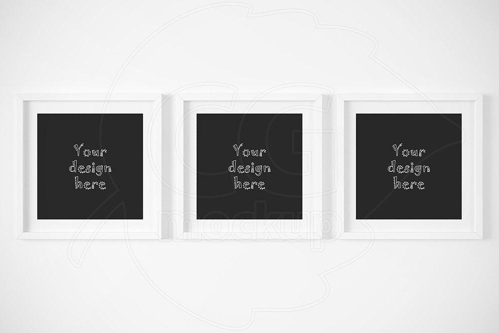 Set of 3 matted frames mockup ~ Product Mockups ~ Creative Market