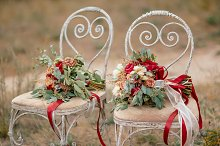 Two Beautiful colorful wedding bouquets