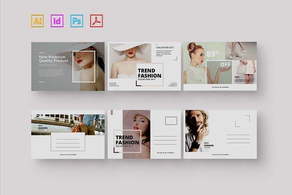fashion postcard card templates creative market