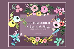 Custom Order for Watercolor Design
