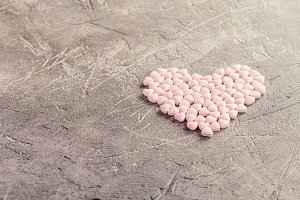 candies in shape of heart
