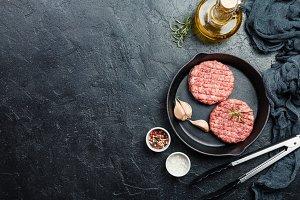 raw burgers - cutlets