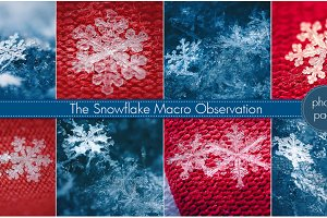 Snowflake Macros (photo pack)
