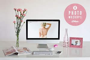 ★ pink&violet ★ 8 iMac photo mockups